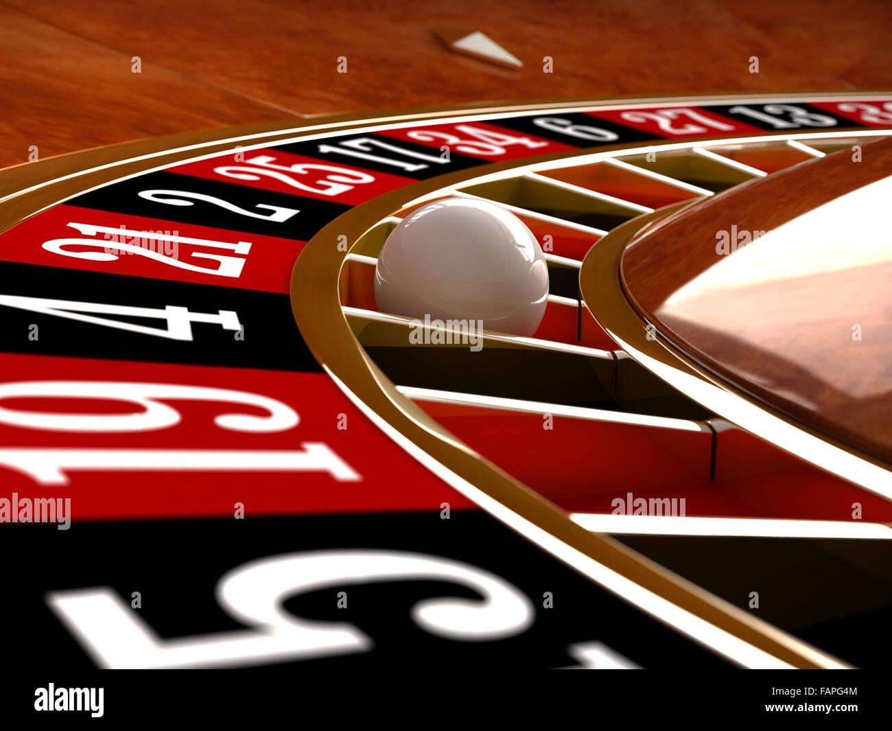 3D Render Nahaufnahme Detail von Casino roulette Stockbild