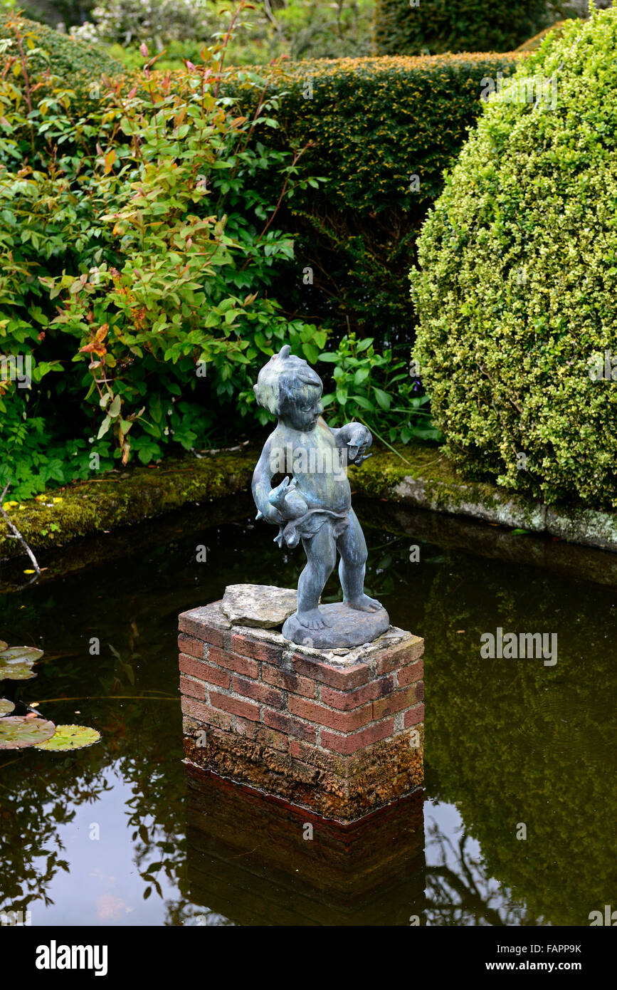 Kilmokea Garten Garten Wasser Teich Feature Imp Gänse Enten Geflügel ...