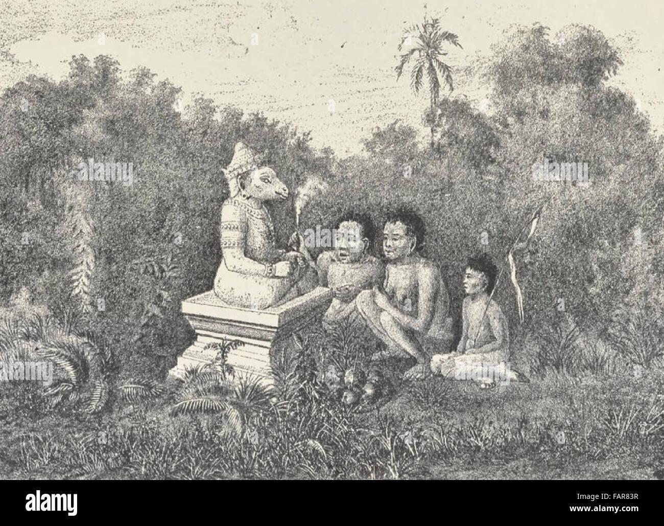 Die Hütergottheit der Pyramide von Phnom Penh, Kambodscha 1880 anzubieten Stockfoto