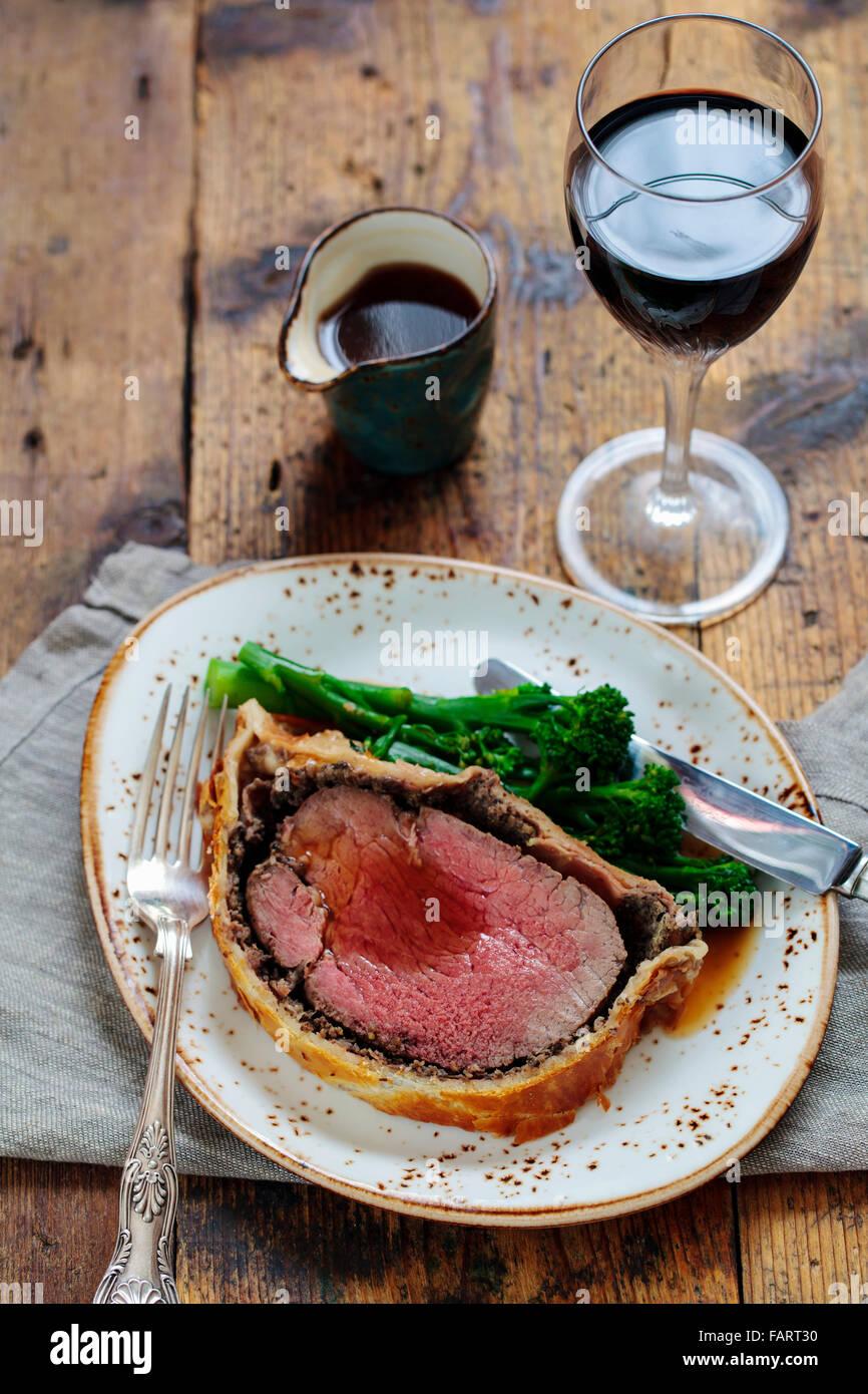 Beef wellington Stockbild
