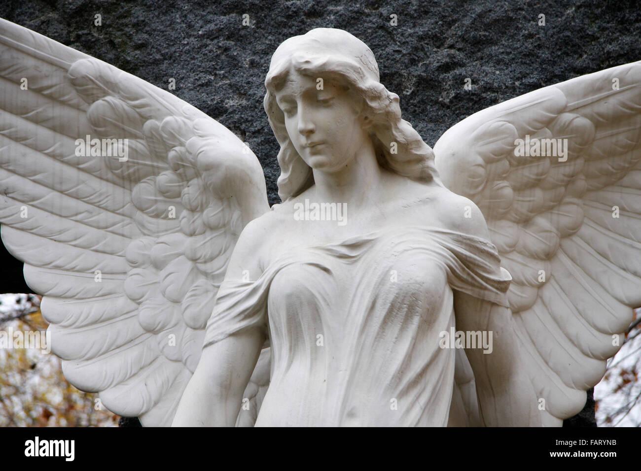 Engel, Skulptur, Invaliden-Friedhof, Berlin-Mitte. Stockbild