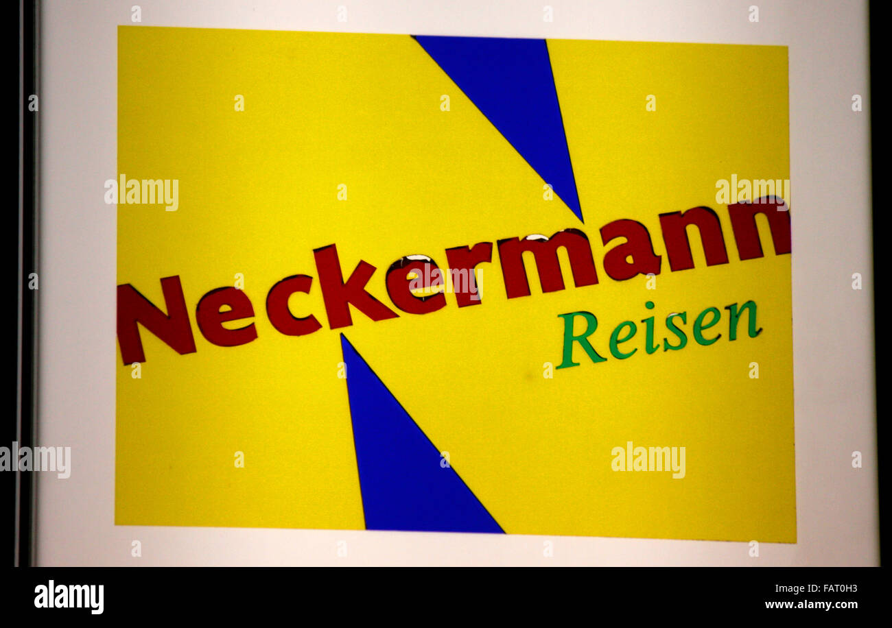 "Markenname: ""Neckermann Reisen"", Berlin. Stockbild"