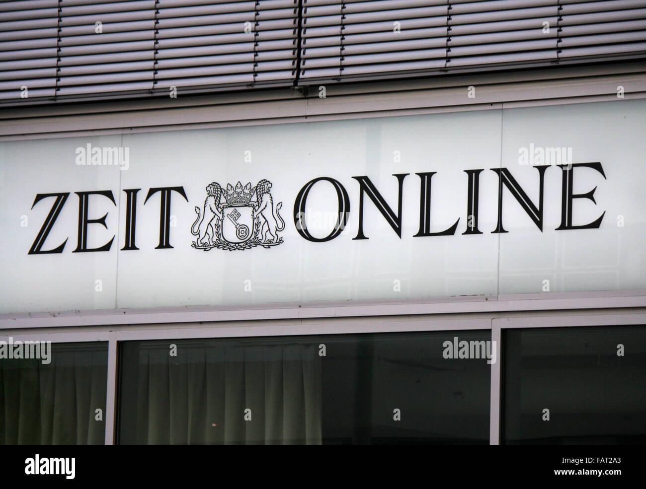"""Markenname: """"Zeit online"""", Berlin. Stockbild"""
