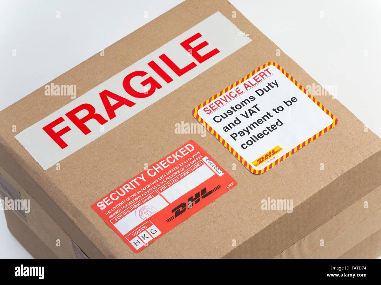 Fragile Paket Stockfoto Bild 92735640 Alamy
