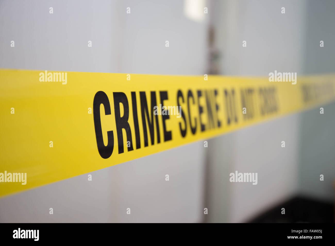 Verbrechen-Szene-Band Gebiet für die Strafverfolgung schützen Stockbild