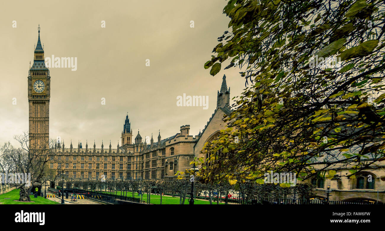 Big Ben und den Houses of Parliament, London, UK. Stockbild