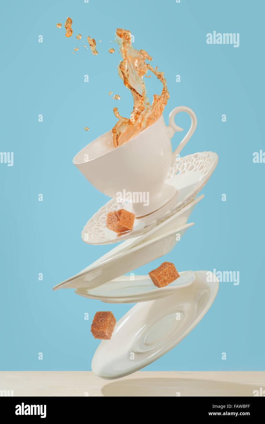 Kaffee für Bühne Zauberer Stockbild