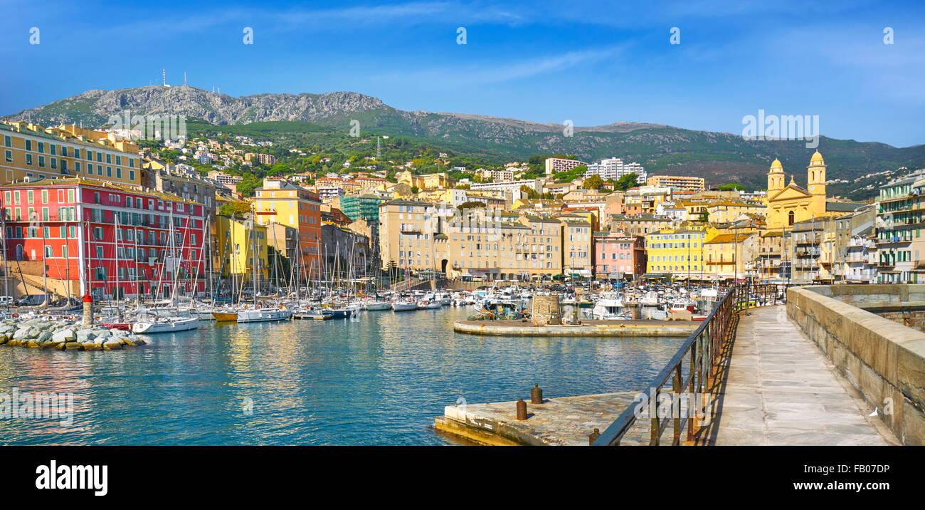 Hafen von Bastia, Korsika, Frankreich Stockbild