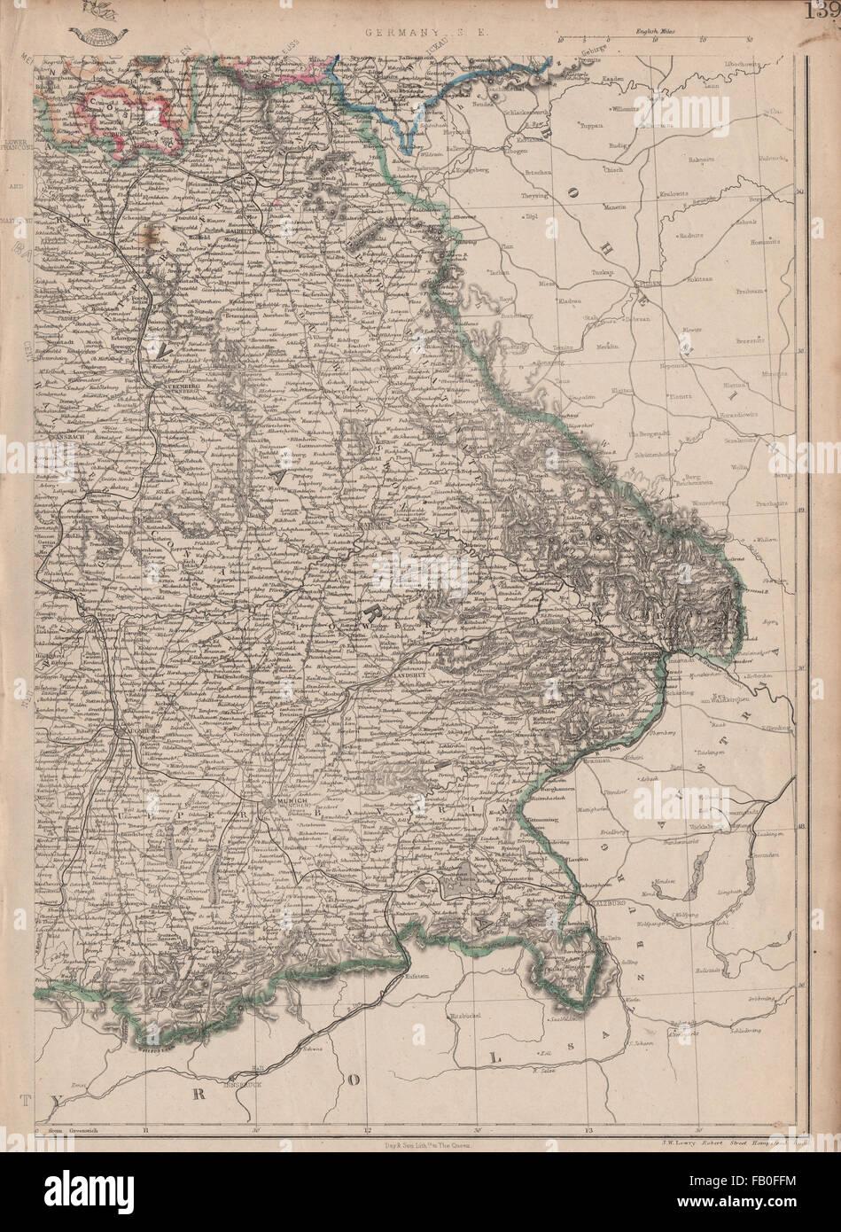 München Karte Bayern.Deutschland Süd Ost Bayern Bayern Eisenbahnen München München Jw