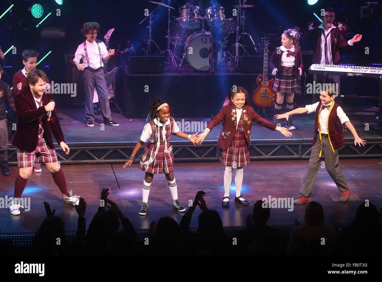 Premiere Für Broadway Musical School Of Rock Im Winter Garden
