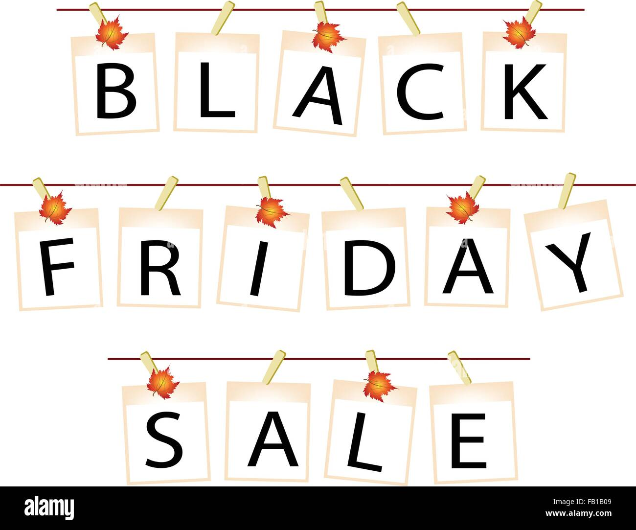 Schwarzer Freitag einkaufen Banner der Sofortbild druckt oder ...