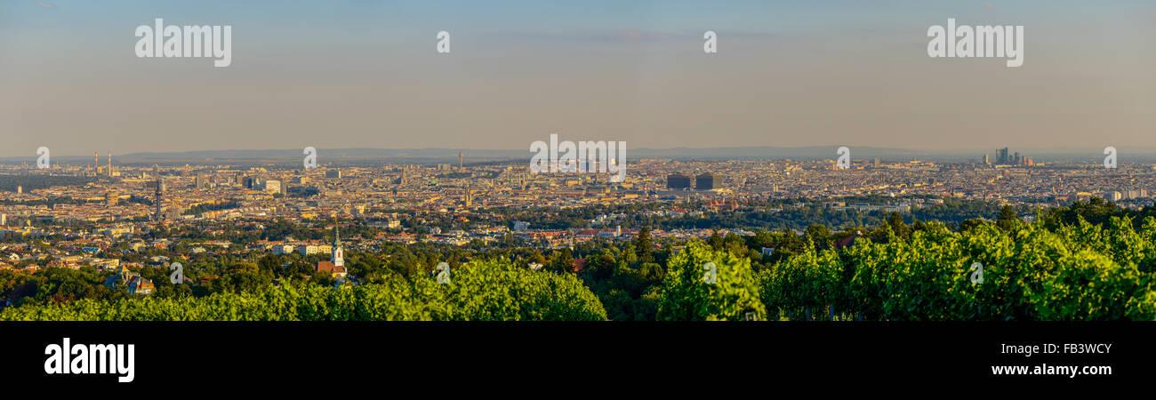 Wien, Blick vom Berg Am Himmel, Wien, Österreich, Mitteleuropa Stockbild