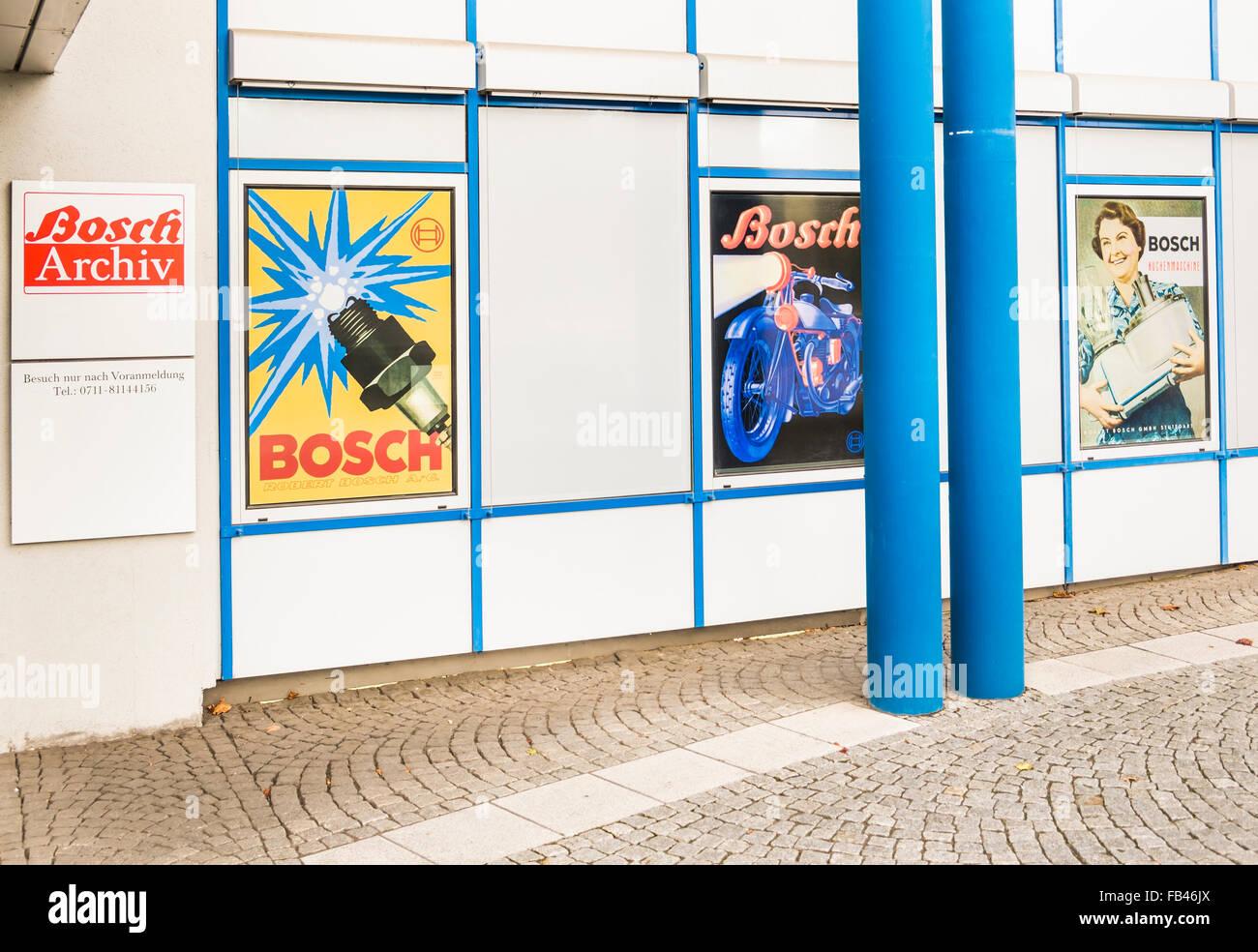 Unternehmen Archiv der Robert Bosch GmbH, Stuttgart-Feuerbach, Baden-Württemberg, Deutschland Stockbild