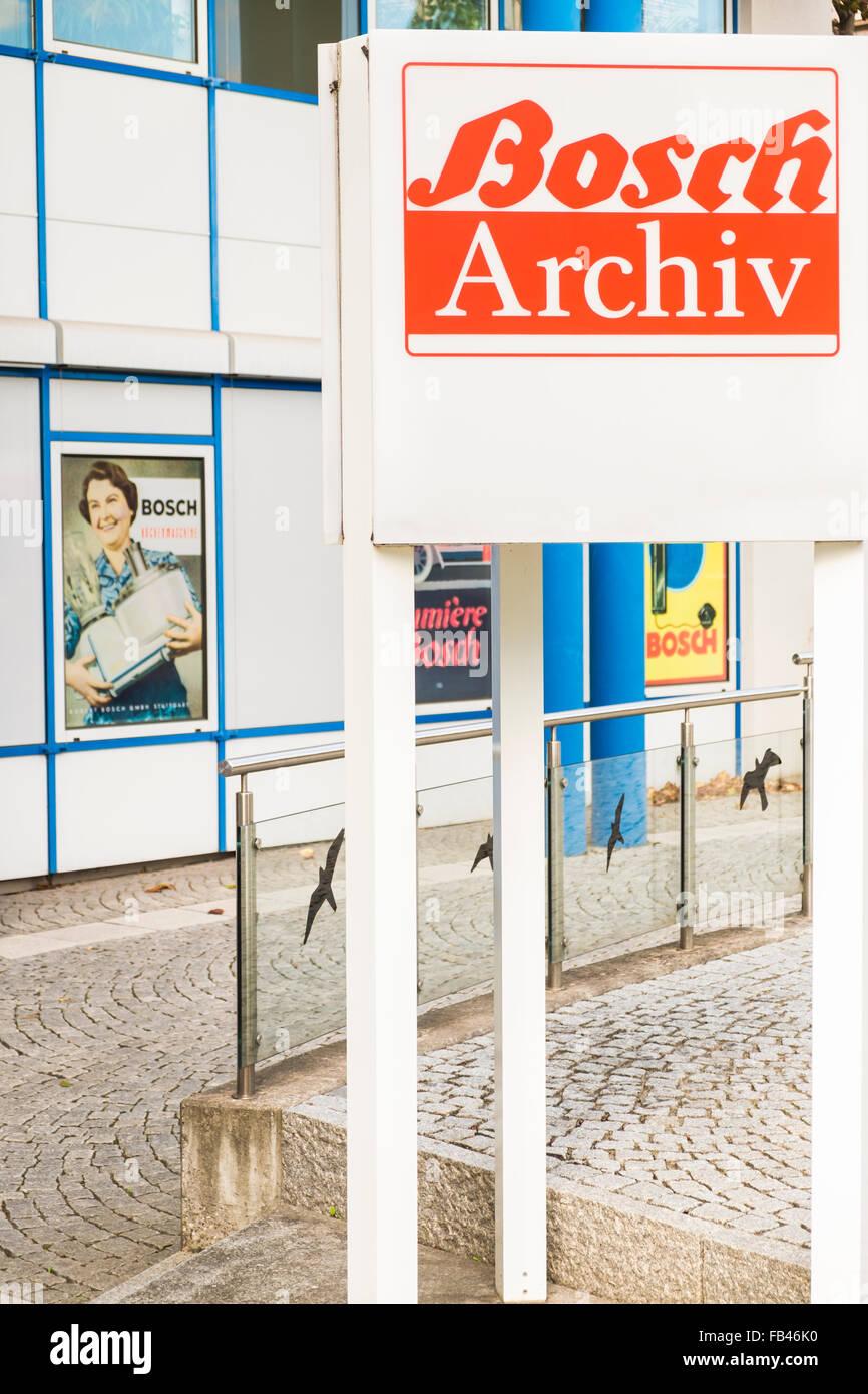 Unternehmen Archiv der Robert Bosch AG, Stuttgart-Feuerbach Stockbild