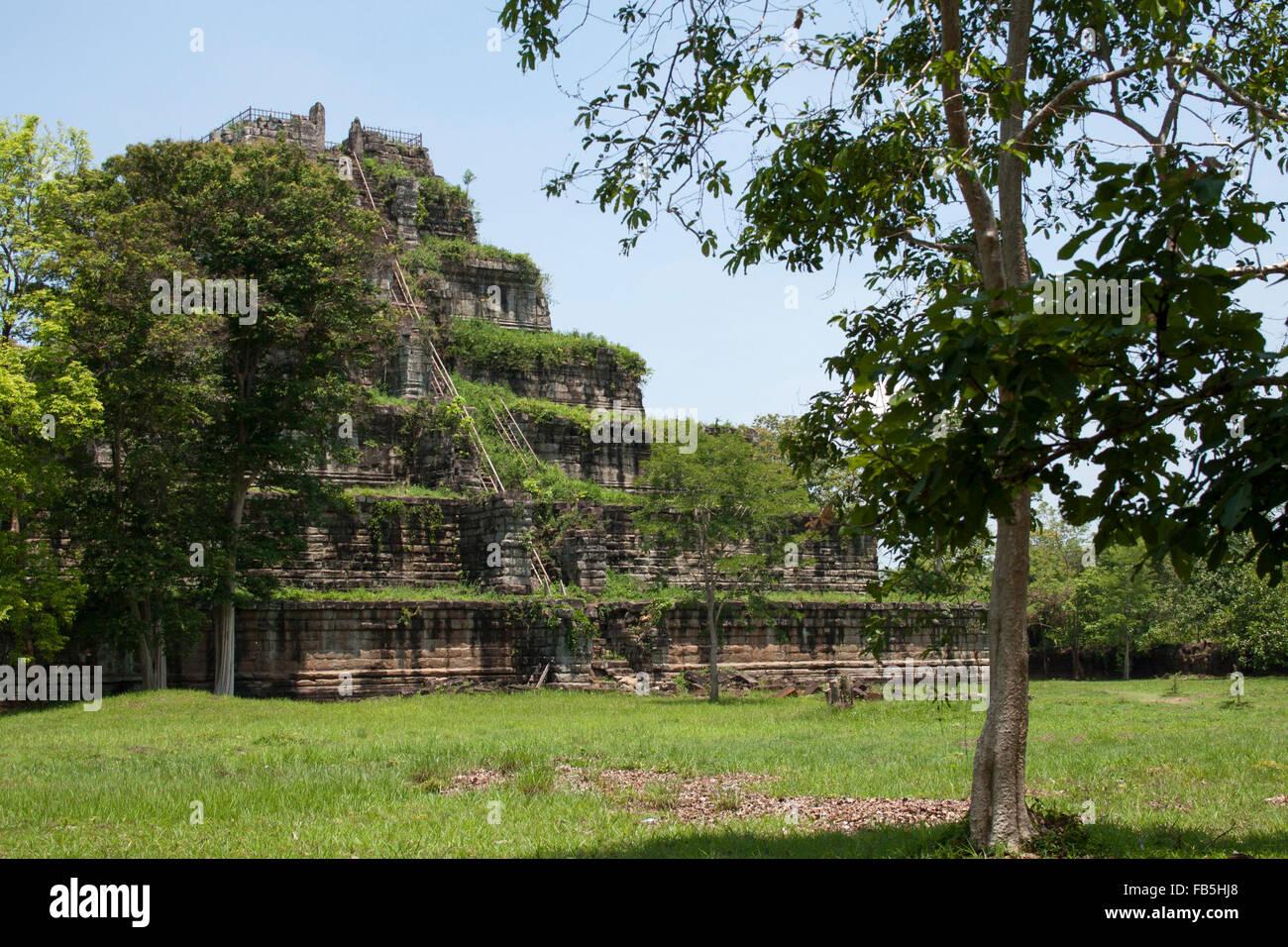 Angkor Wat-Pyramide Stockfoto