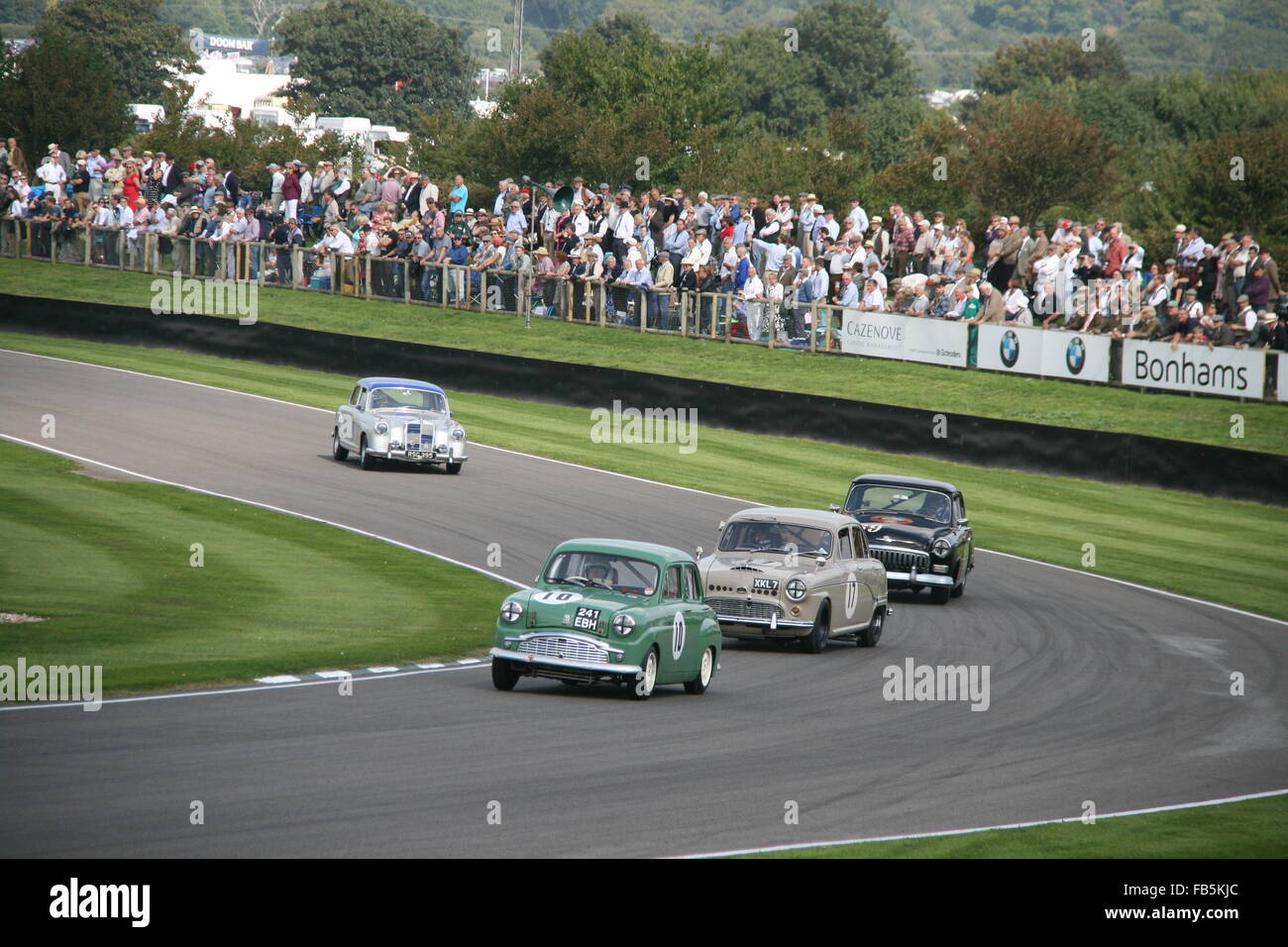 OLDTIMER RENNWAGEN BEIM GOODWOOD REVIVAL Stockbild