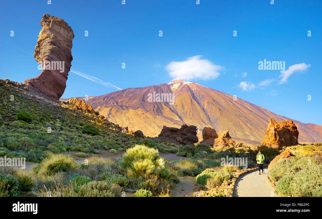 Tourismus im Nationalpark Teide, Kanarische Inseln, Teneriffa, Spanien Stockbild