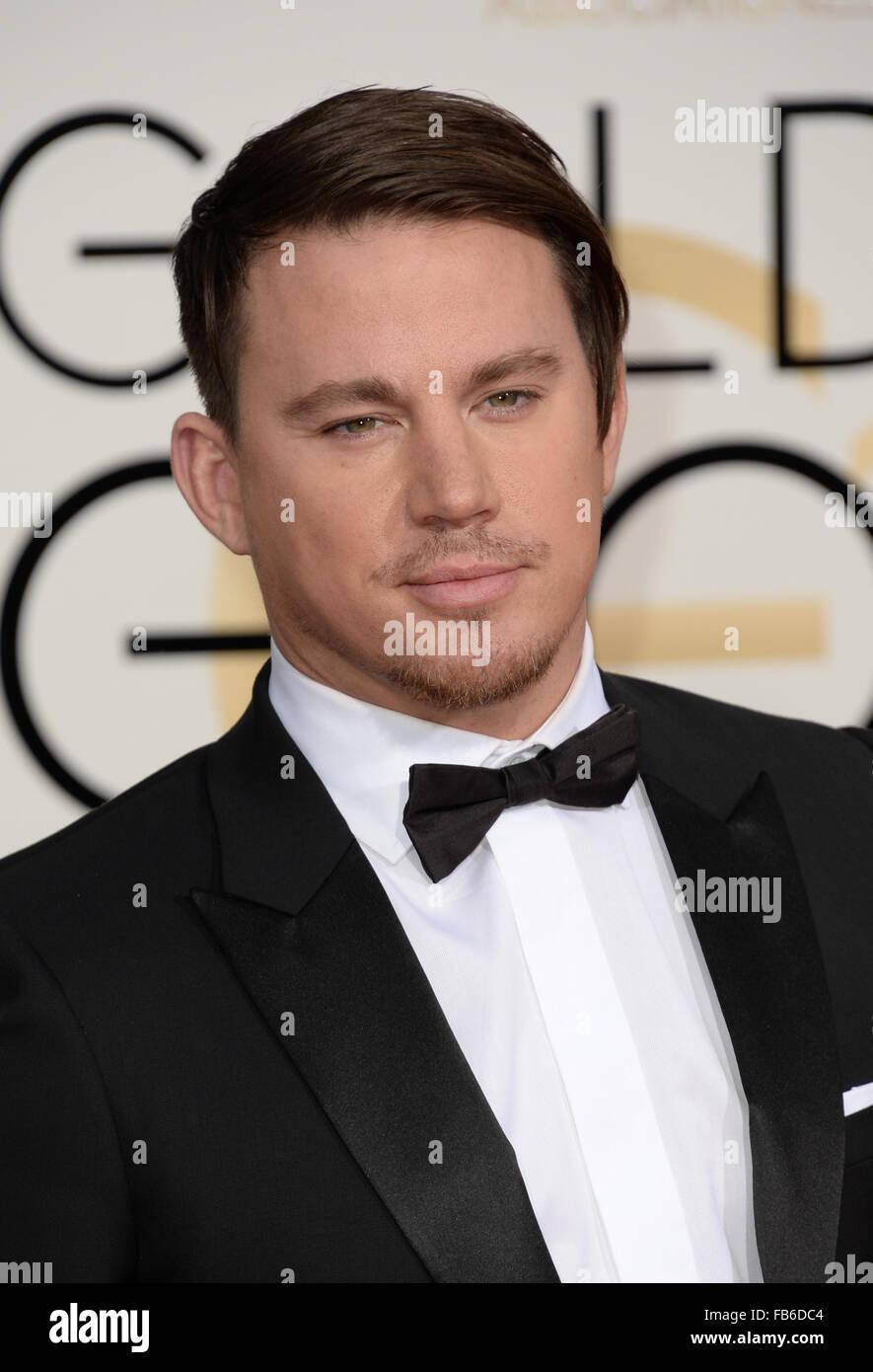 Los Angeles, Kalifornien, USA. 10. Januar 2016. Channing Tatum kommt bei den Golden Globes, Los Angeles, CA-Credit: Stockfoto