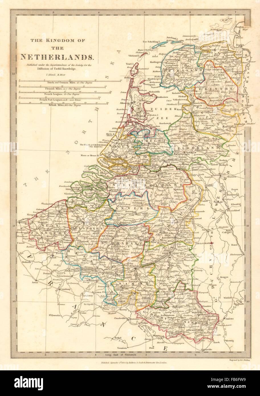 Karte Von Holland Und Belgien.Konigreich Der Niederlande Belgien Provinzen Holland