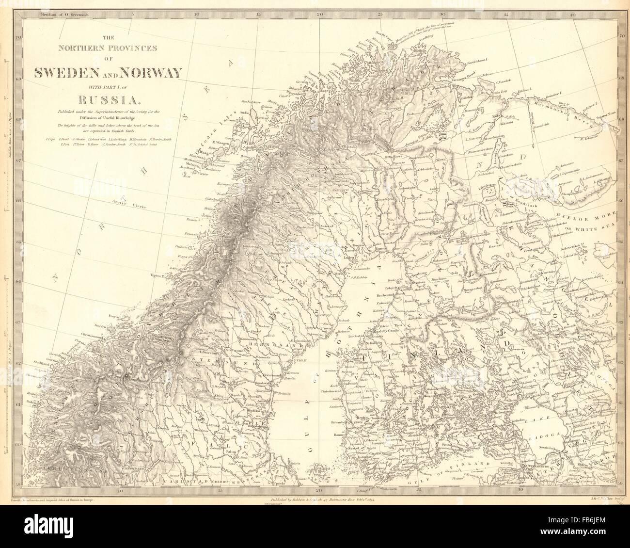 Finland Map Scandinavia Stockfotos & Finland Map Scandinavia Bilder ...