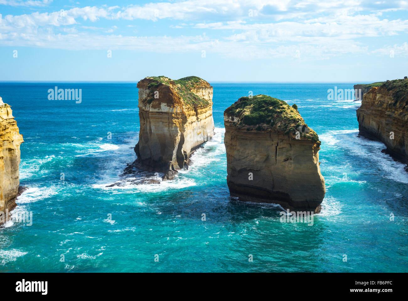 Australien, Port Campbell, die zwölf Apostel Meerespark Stockbild