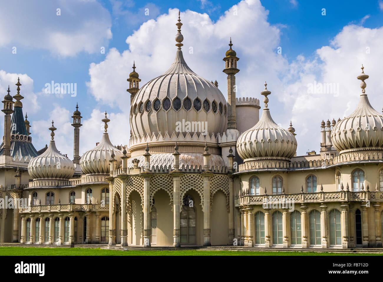 Brighton Pavilion, der Küstenstadt Rückzug von Prince George, der Prinz Regent, im 18. Jahrhundert, Brighton Stockbild