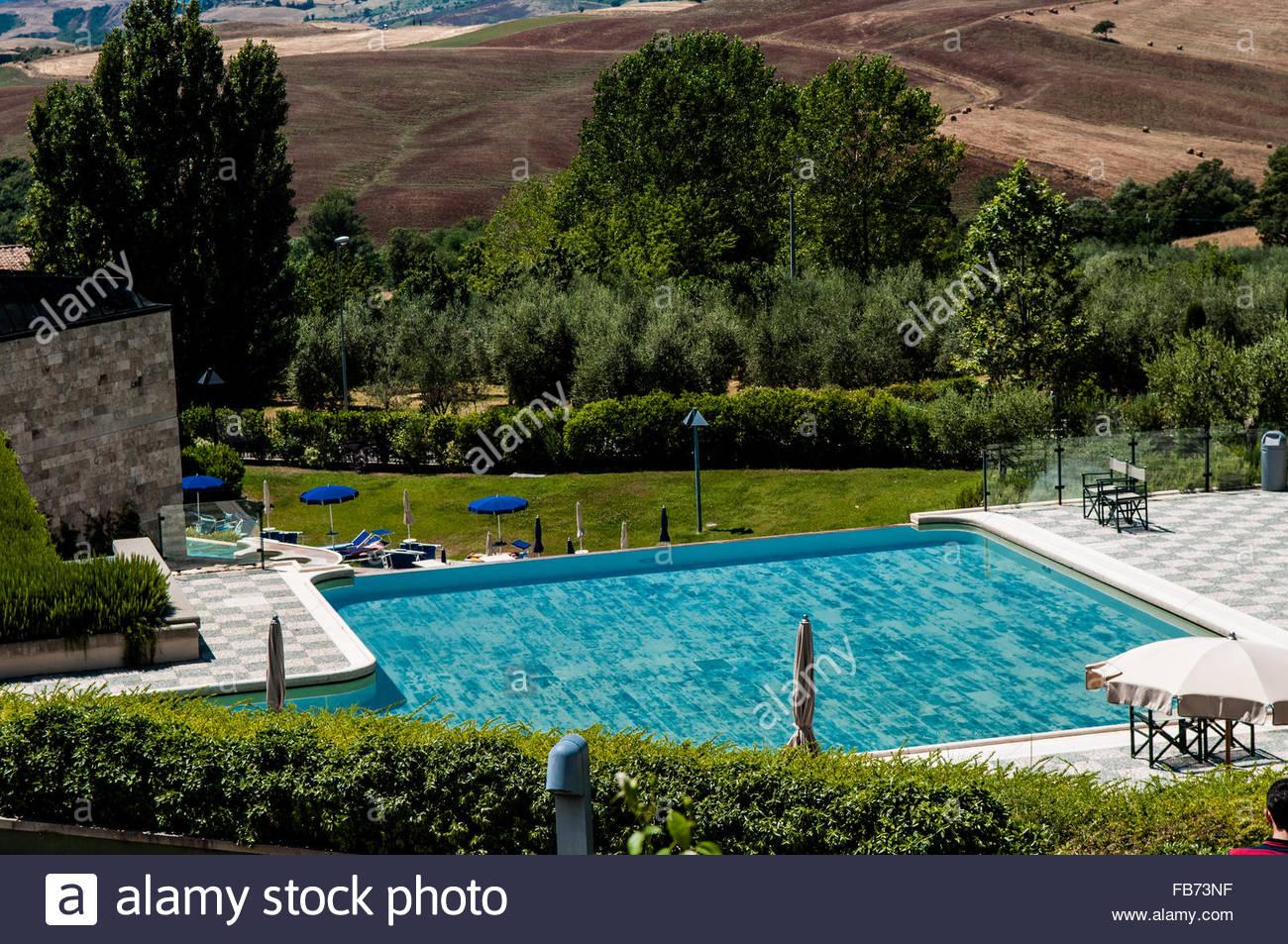 Pool, Fonteverde Terme, San Casciano dei Bagni, Italien Stockfoto ...