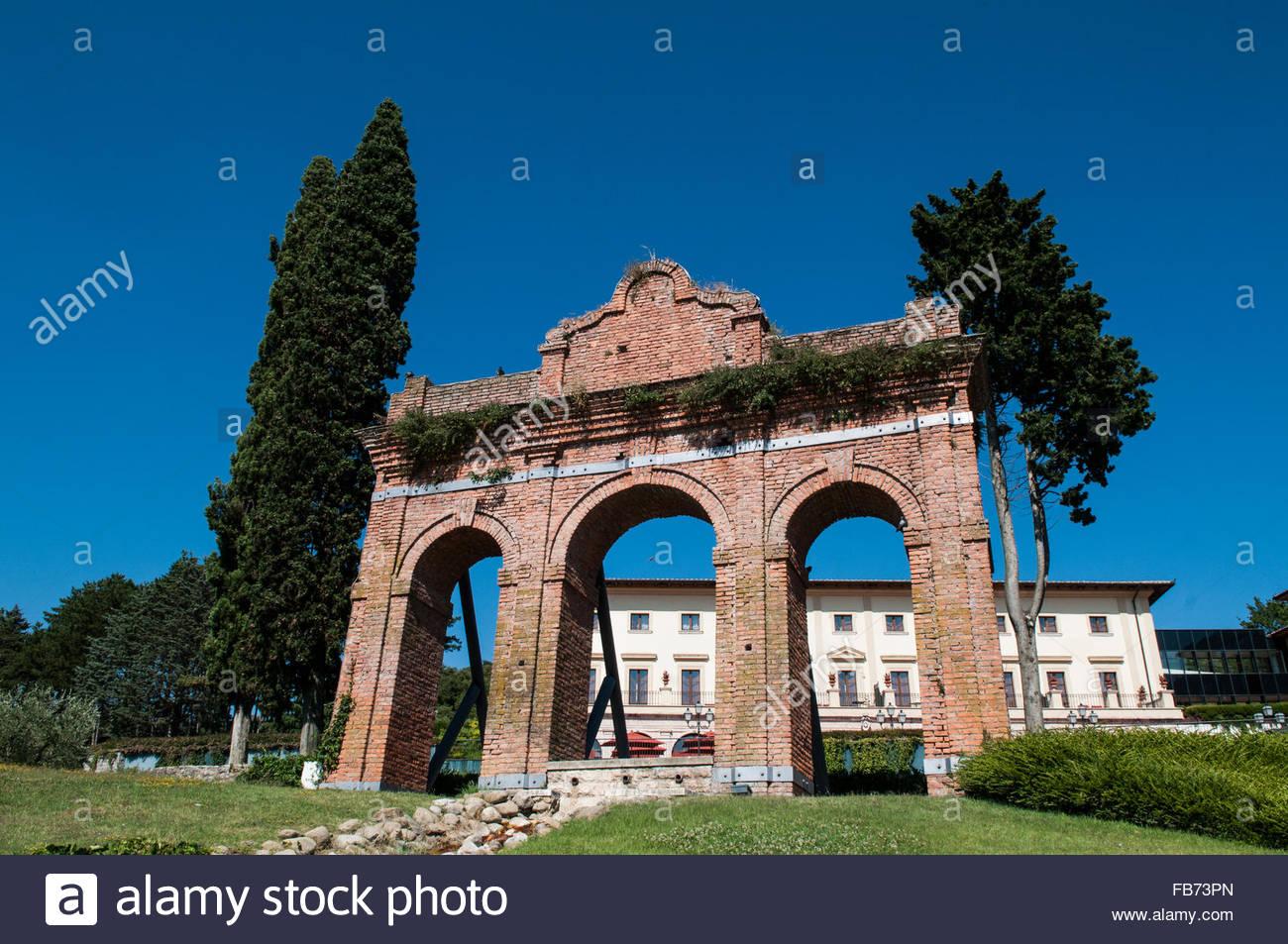 Fonteverde terme san casciano dei bagni italien stockfoto bild