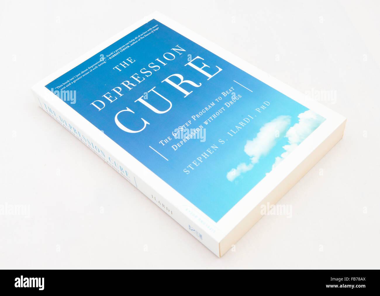 Die Depression Heilung: Der 6-Schritte-Programm gegen Depression ohne Medikamente durch Stephen S. Ilardi. Stockbild