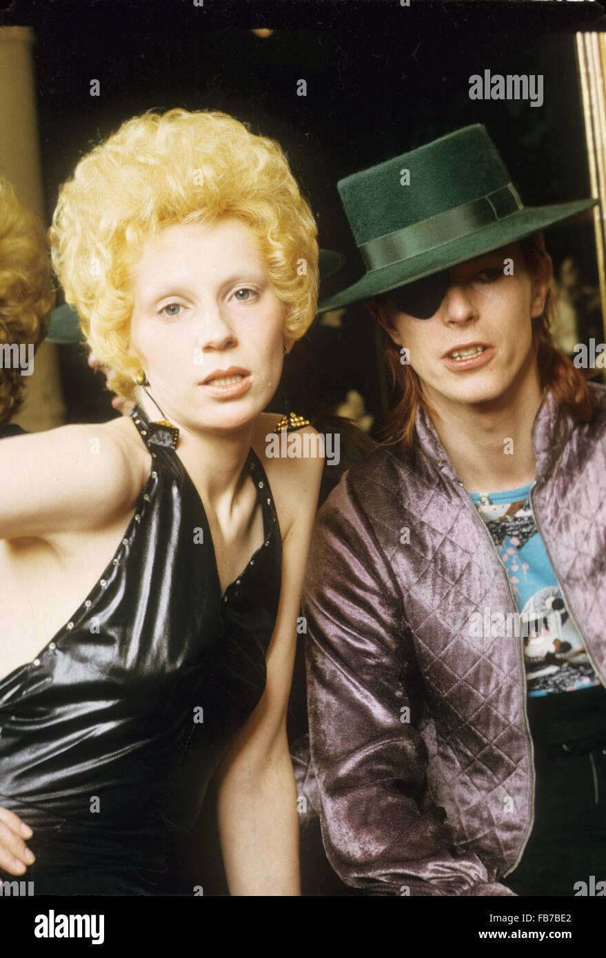 David Bowie Mit Frau Angie Am Amstel Hotel Amsterdam Holland Im