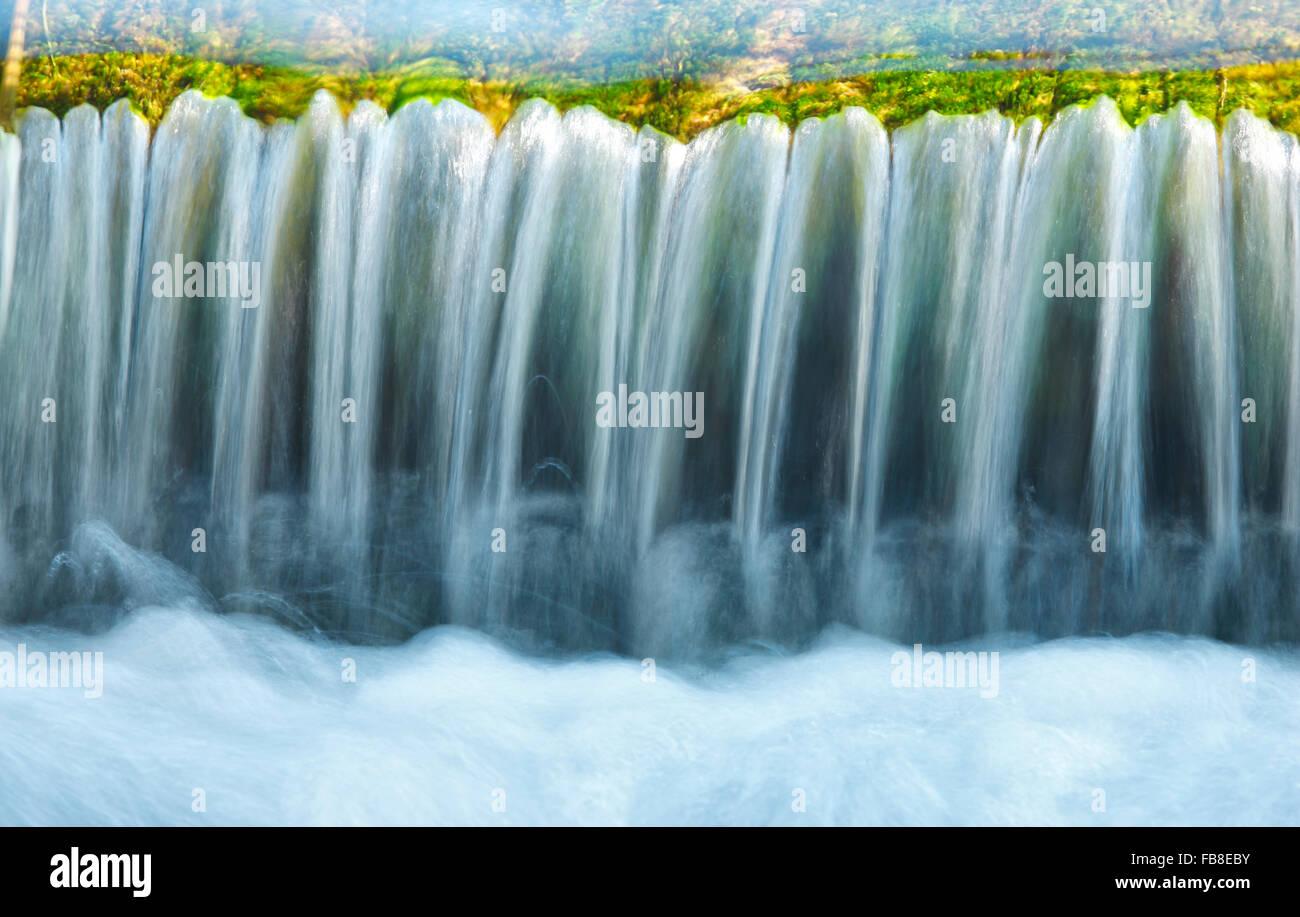 Strom, Wasser, Nahaufnahme Stockbild
