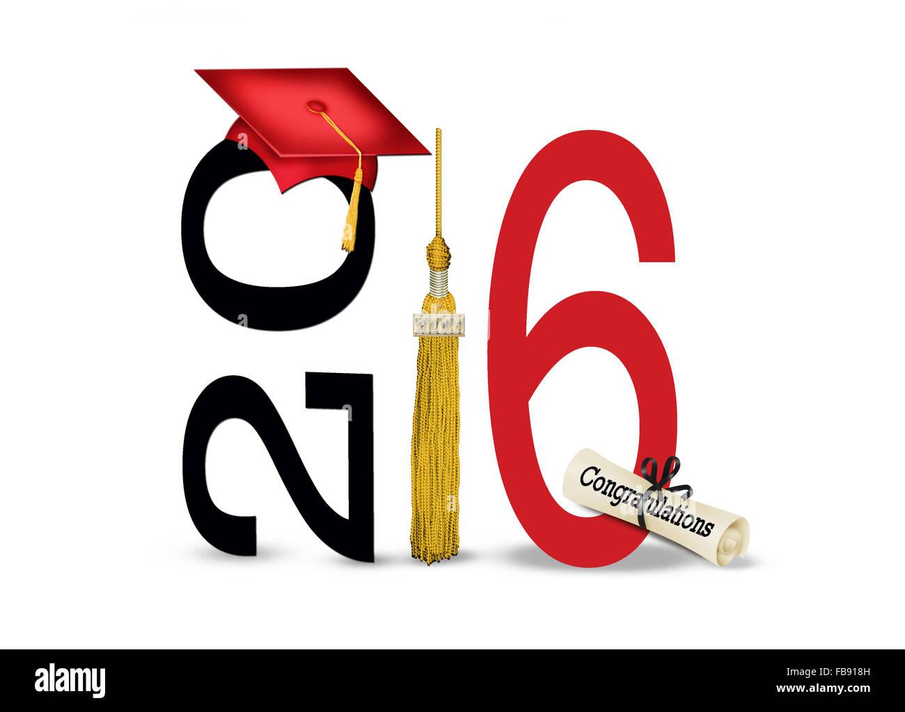 Illustration Black Graduation Cap On Stockfotos & Illustration Black ...