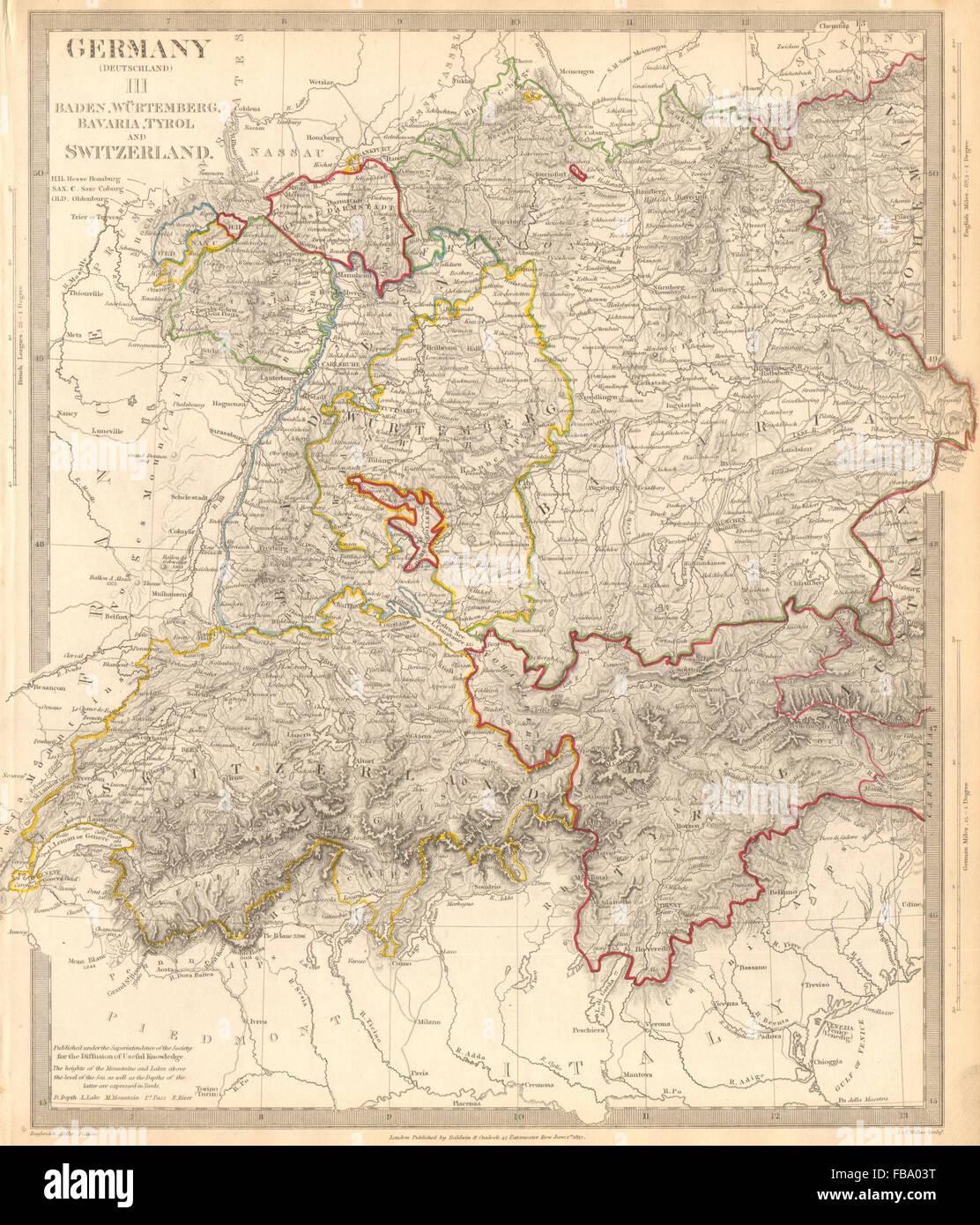 Karte Süddeutschland österreich Schweiz.Deutschland Schweiz österreich Baden Württemberg Bayern Tirol