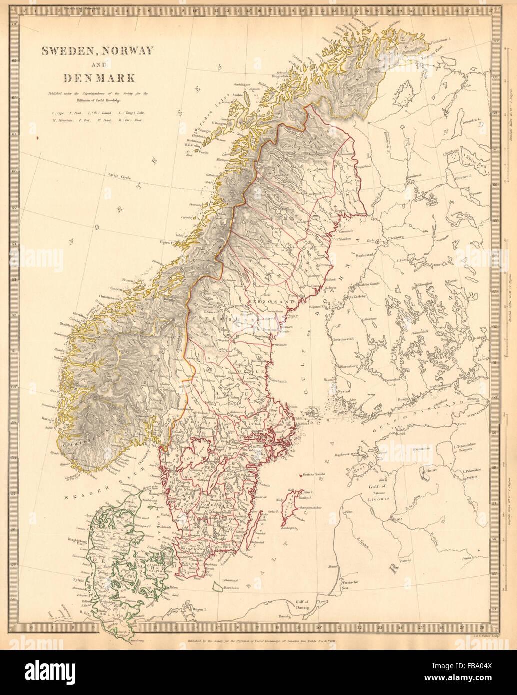 Karte Norwegen Dänemark.Skandinavien Schweden Norwegen Und Dänemark Bevölkerung Tabelle