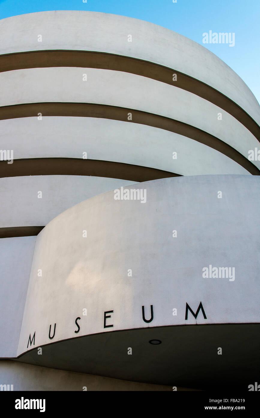 Solomon R. Guggenheim Museum, Manhattan, New York, USA Stockbild