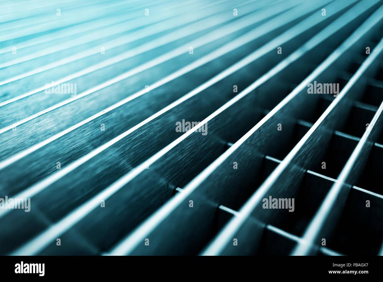 Abstrakte Metallgitter Hintergrund, selektiven Fokus mit geringen Schärfentiefe Stockbild