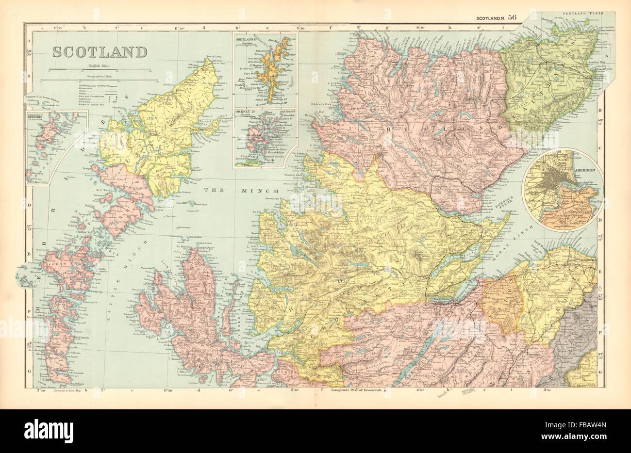 Schottland Karte Highlands.Schottland Highlands Inseln Parlamentarische Abteilungen Bezirke