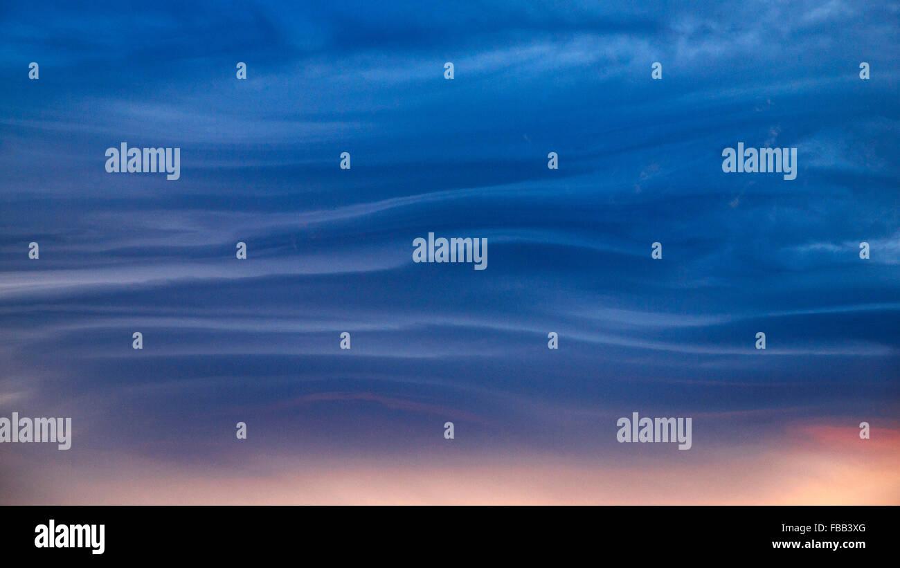 Dramatische Wolkengebilde Patagonien Stockbild