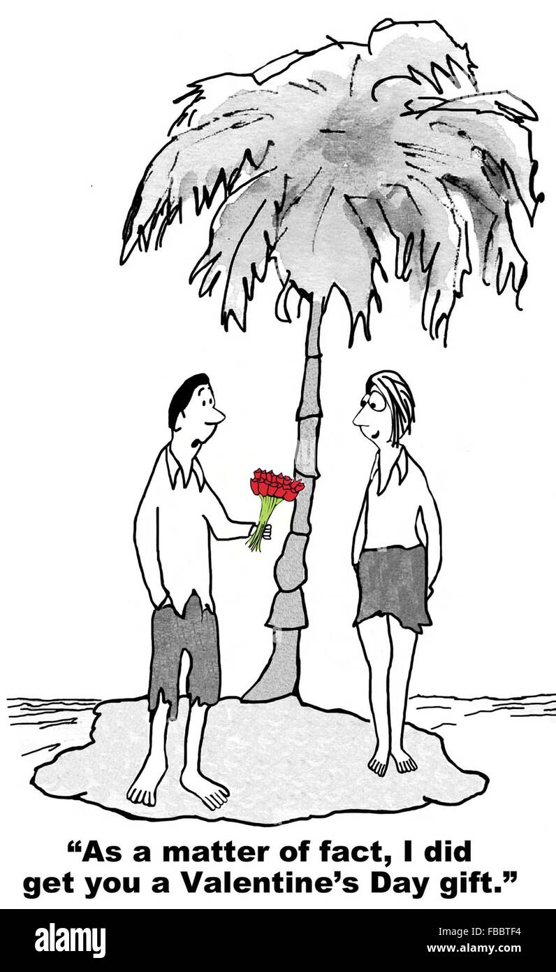 Cartoon zum valentinstag