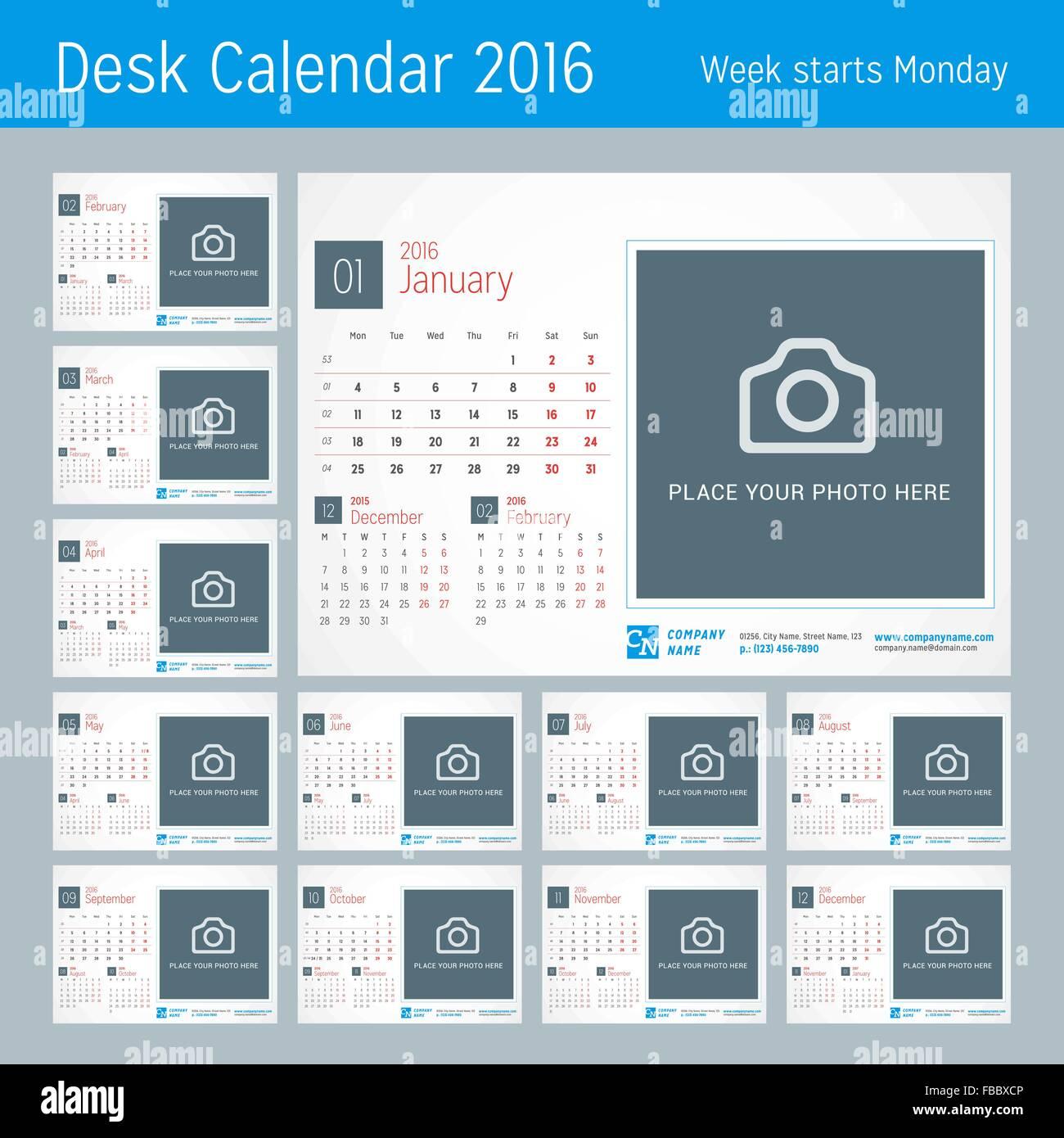October 2016 Desk Calendar 2016 Stockfotos & October 2016 Desk ...