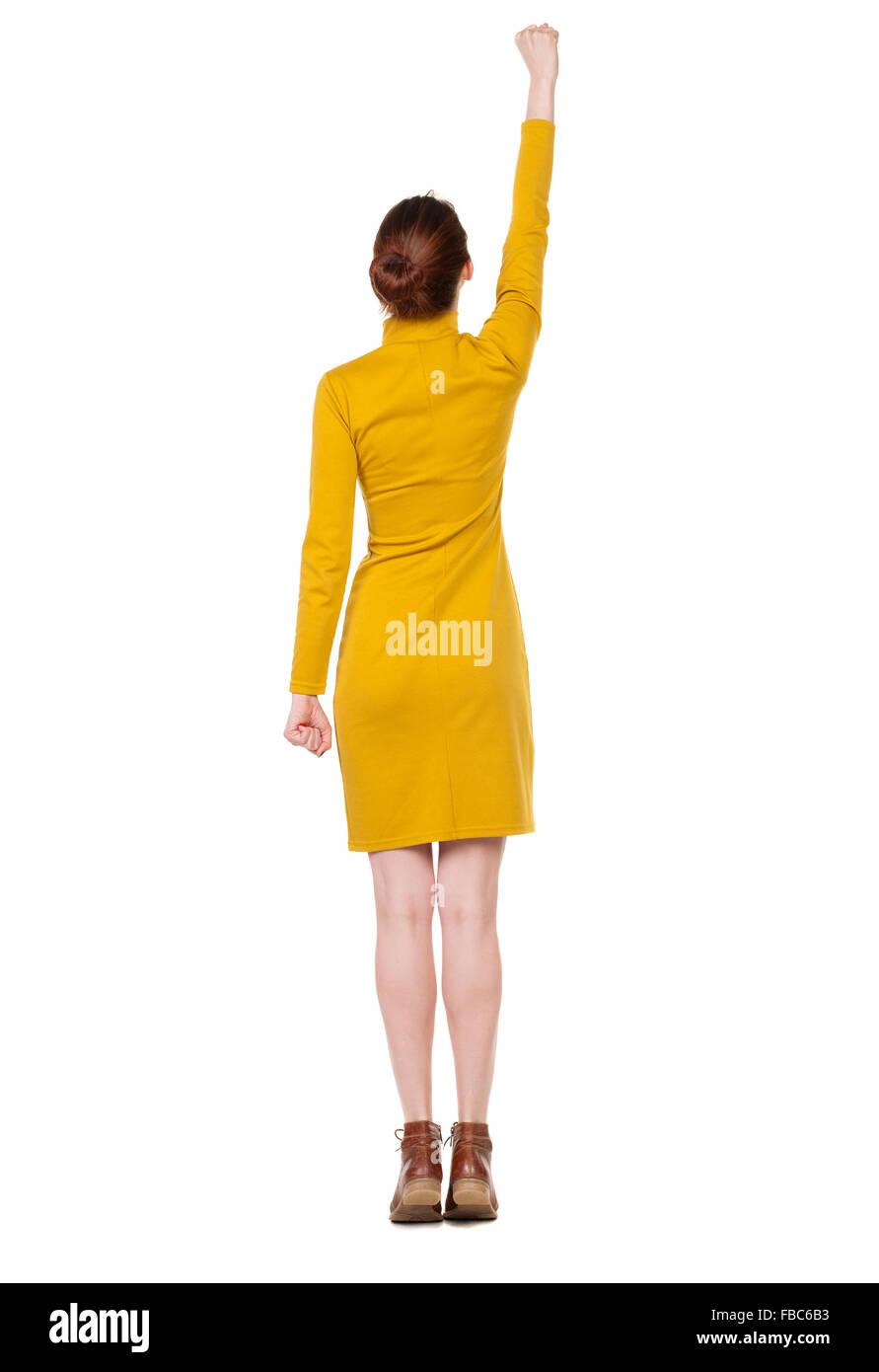 Senffarbenes Kleid Stockfotos und -bilder Kaufen - Alamy