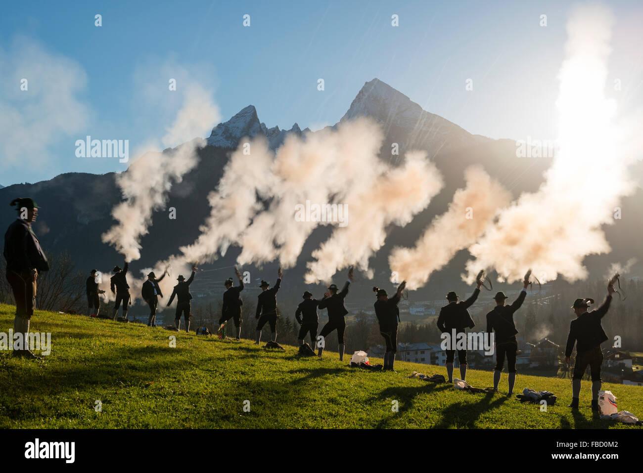 Weihnachten-Shooter, hinter Mt. Watzmann, Stanggaß, Bischofswiesen ...