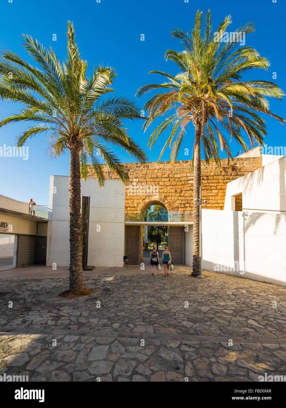Museum Es Baluard Museum für moderne Kunst, Bastion de Sant Pere, Palma de Mallorca, Mallorca, Balearen, Spanien Stockbild