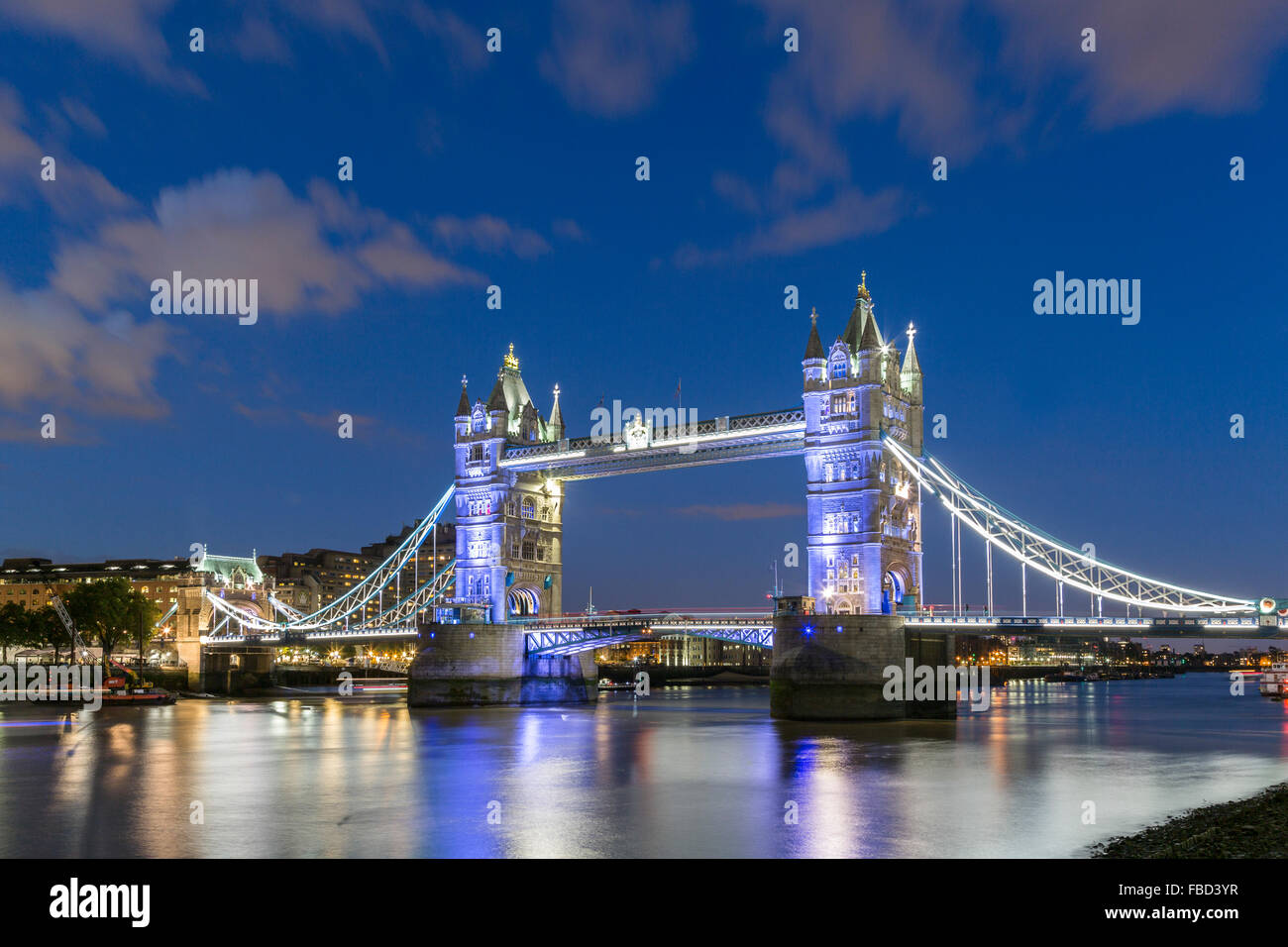 Tower Bridge, London, Vereinigtes Königreich Stockfoto