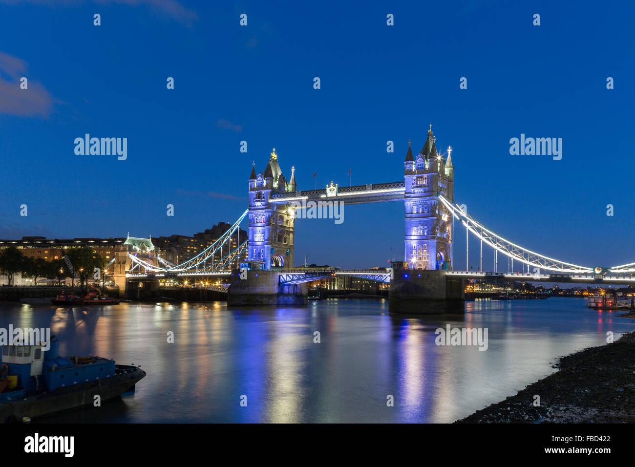 Tower Bridge, London, Vereinigtes Königreich Stockfoto
