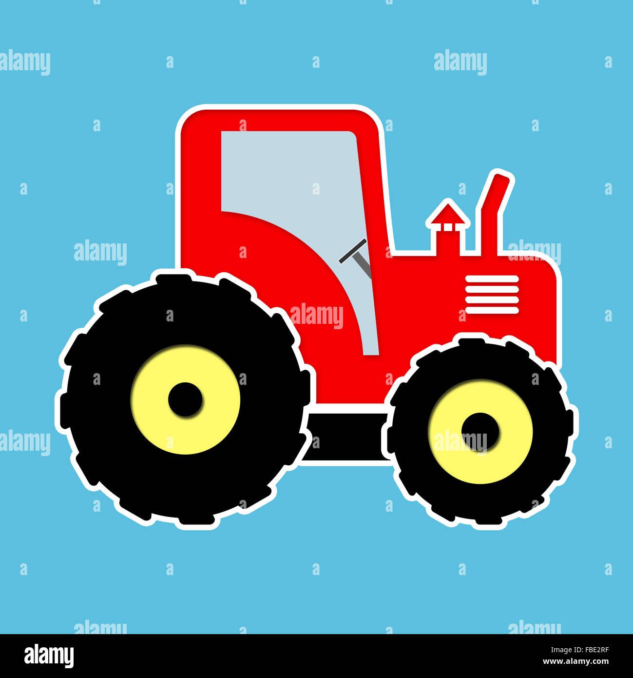 Roter Spielzeug-Traktor. Grafik-Design Ideal Für