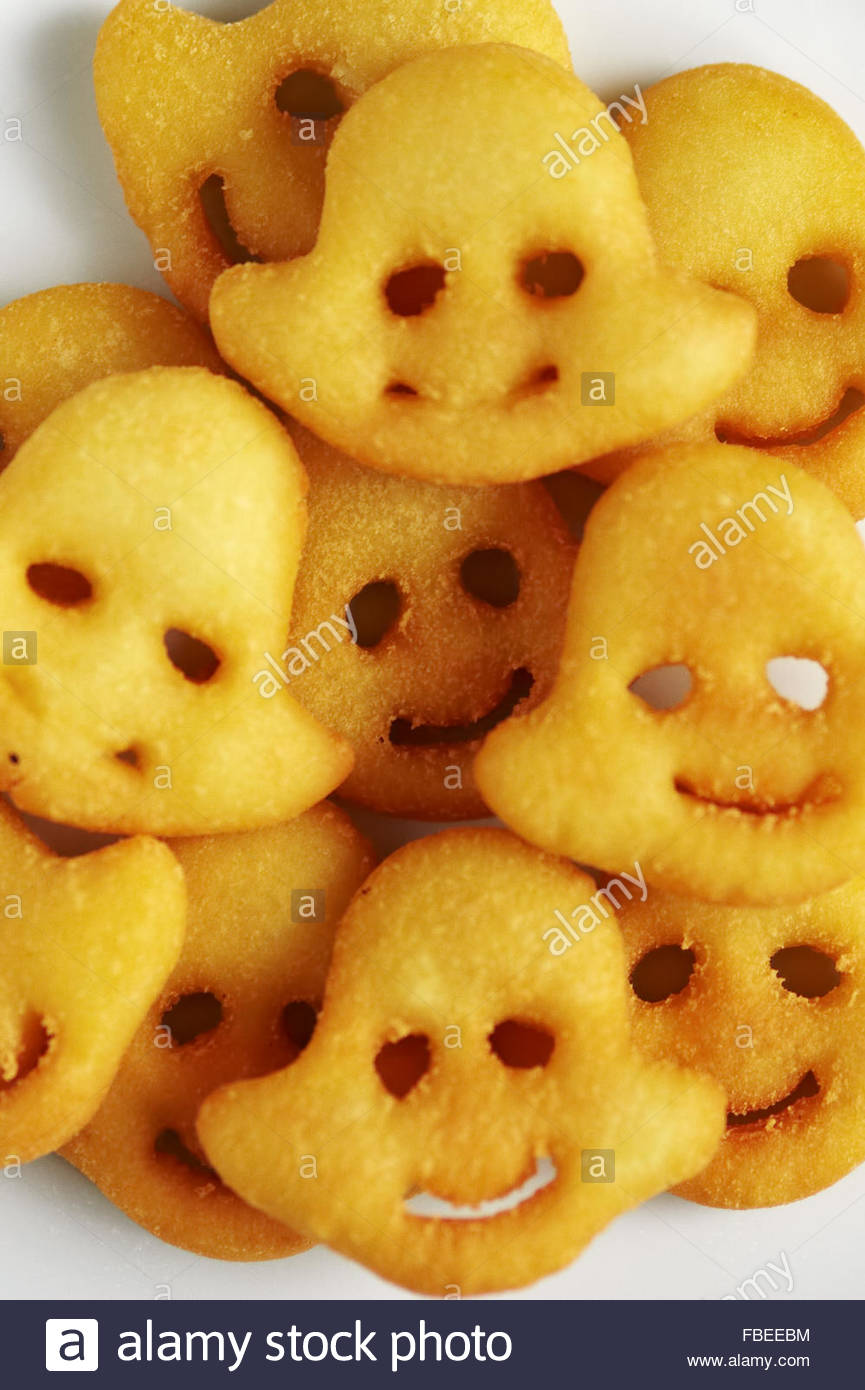 Smiley-Gesicht Pommes frites Stockbild