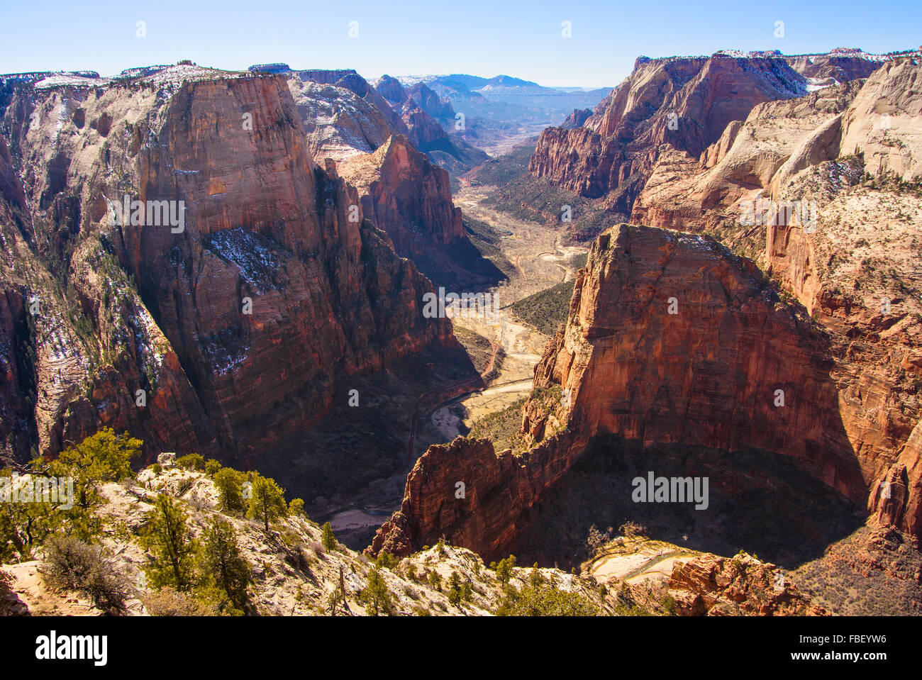 Ansicht der Canyon, Zion Nationalpark Stockbild