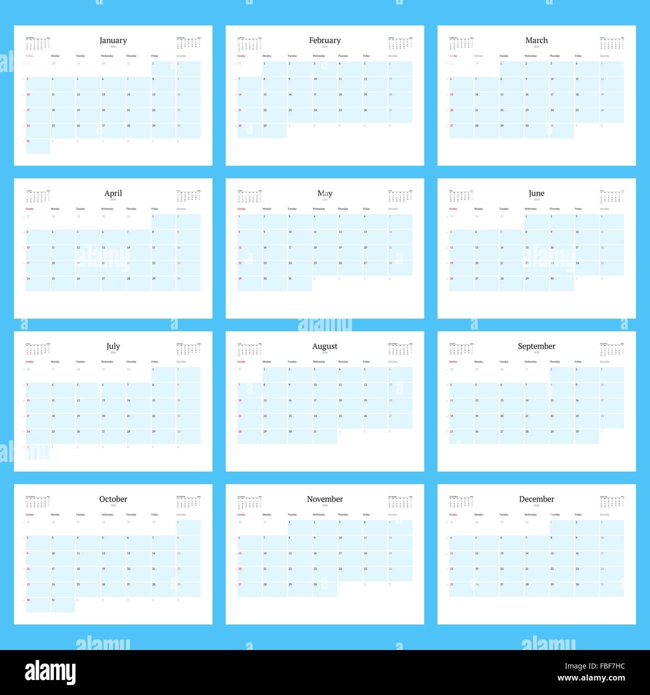 12 Months Calendar Stockfotos & 12 Months Calendar Bilder - Alamy