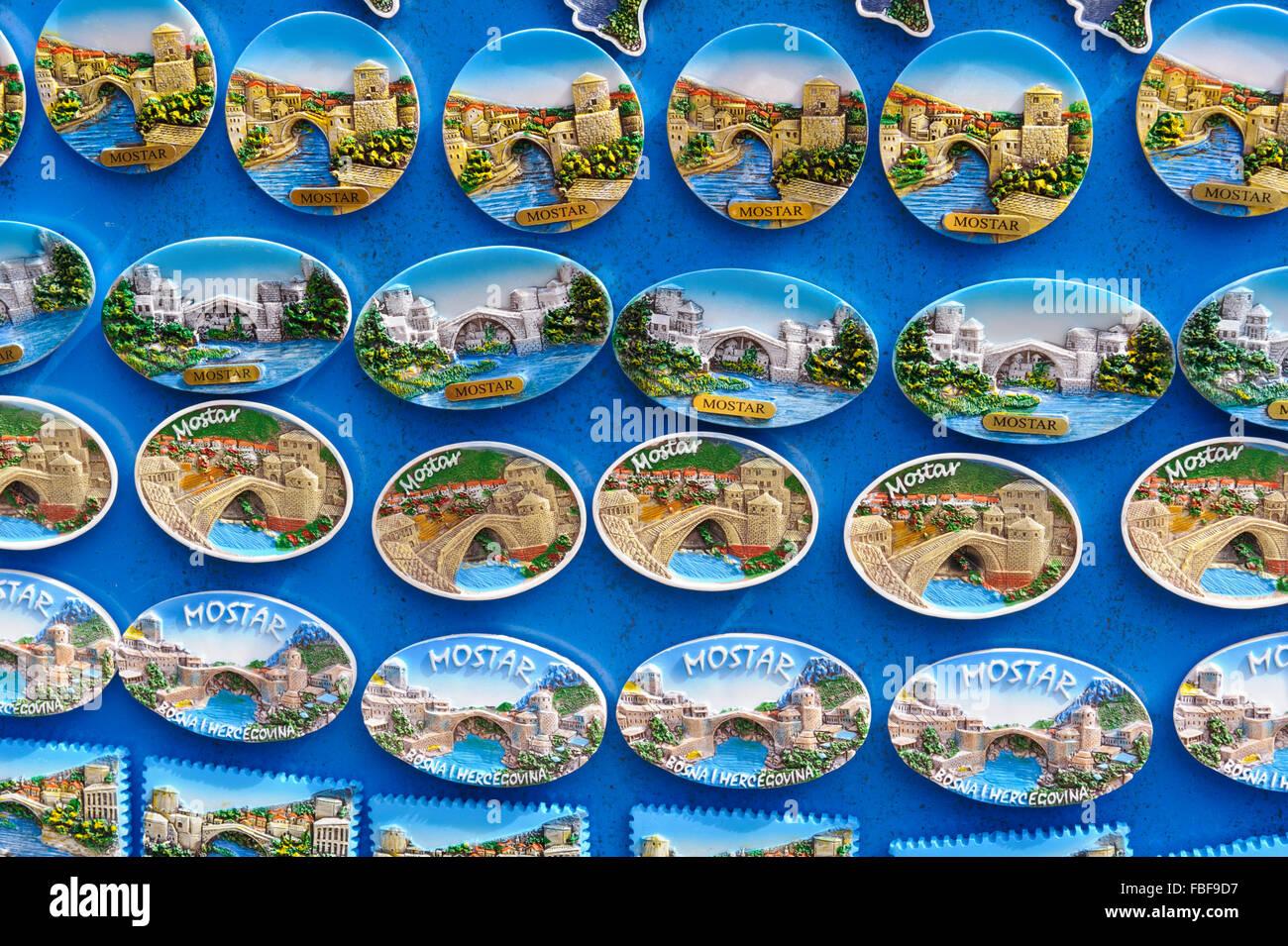 Kühlschrank-Magnete auf den Verkauf in der Altstadt von Mostar ...